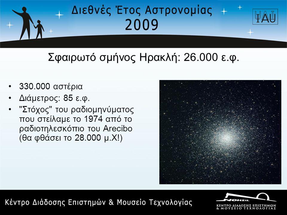 Σφαιρωτό σμήνος Ηρακλή: 26.000 ε.φ.