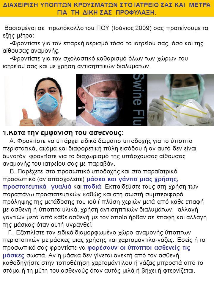 Κατά την εμφάνιση του ασθενούς: