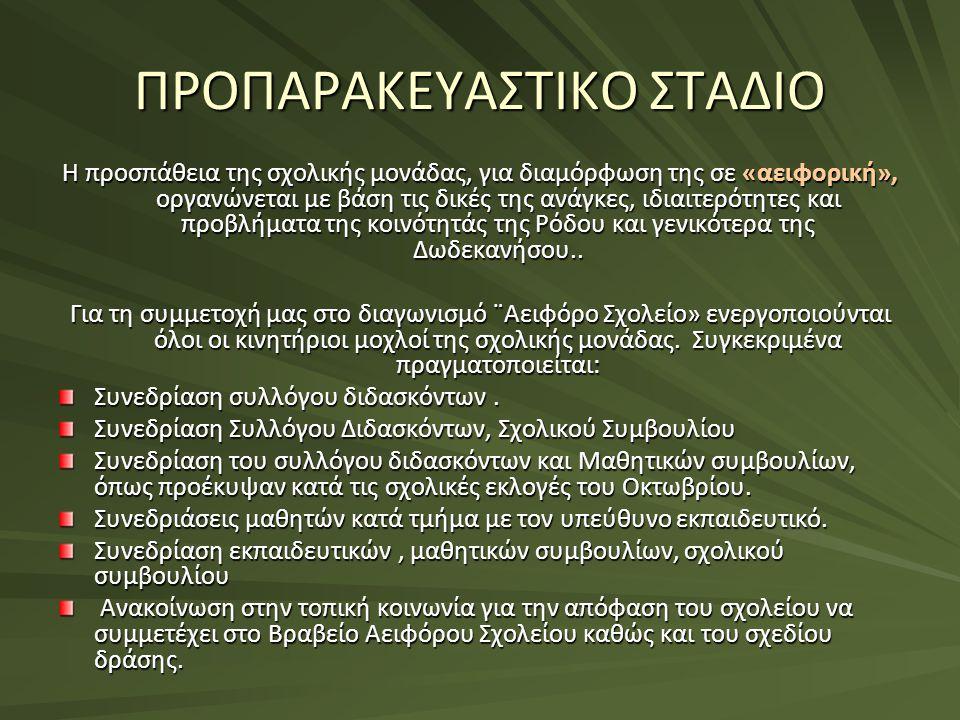 ΠΡΟΠΑΡΑΚΕΥΑΣΤΙΚΟ ΣΤΑΔΙΟ