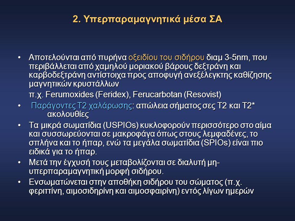 2. Υπερπαραμαγνητικά μέσα ΣΑ