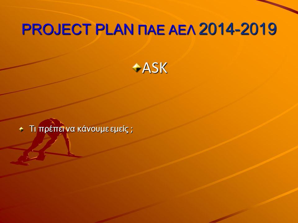 PROJECT PLAN ΠΑΕ ΑΕΛ 2014-2019 ASK Τι πρέπει να κάνουμε εμείς ;