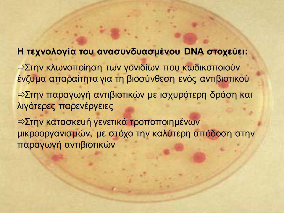 Η τεχνολογία του ανασυνδυασμένου DNA στοχεύει: