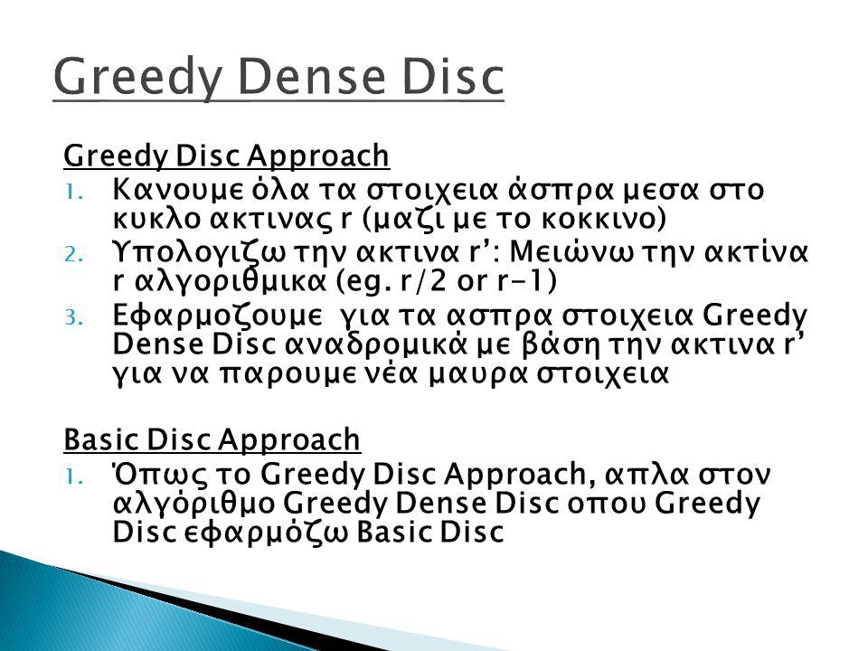 Greedy Dense Disc Greedy Disc Approach