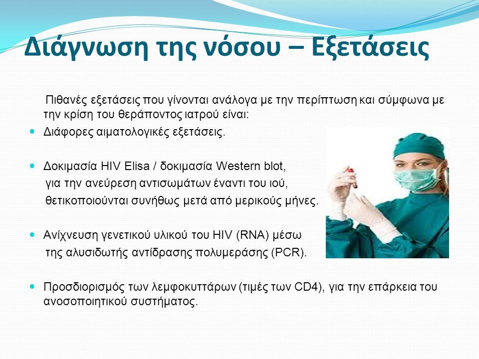 Διάγνωση της νόσου – Εξετάσεις