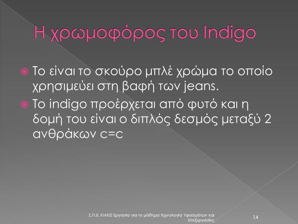 Η χρωμοφόρος του Indigo