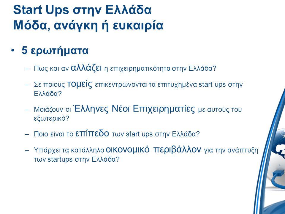 Start Ups στην Ελλάδα Μόδα, ανάγκη ή ευκαιρία