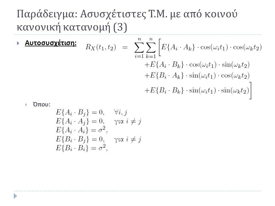 Παράδειγμα: Ασυσχέτιστες Τ.Μ. με από κοινού κανονική κατανομή (3)