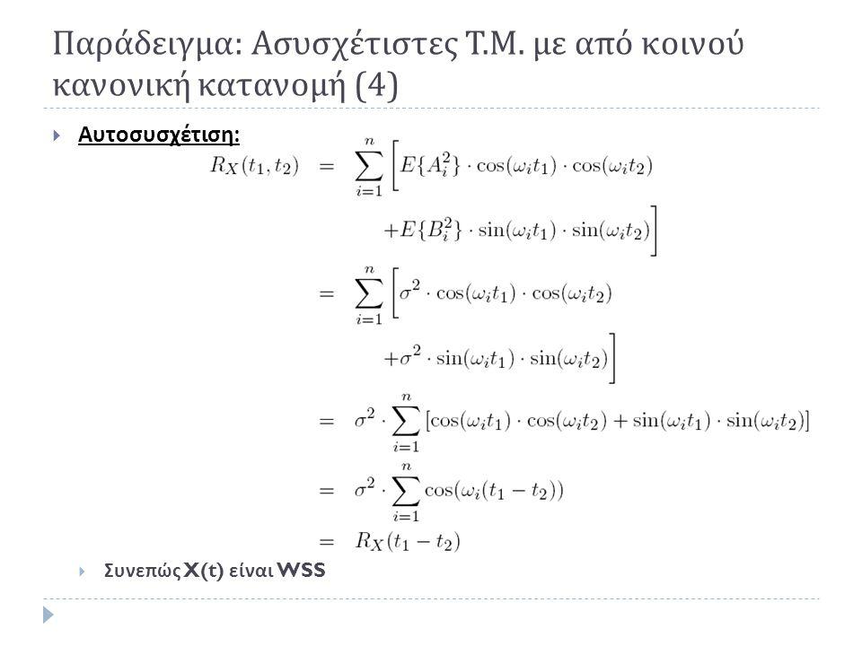 Παράδειγμα: Ασυσχέτιστες Τ.Μ. με από κοινού κανονική κατανομή (4)