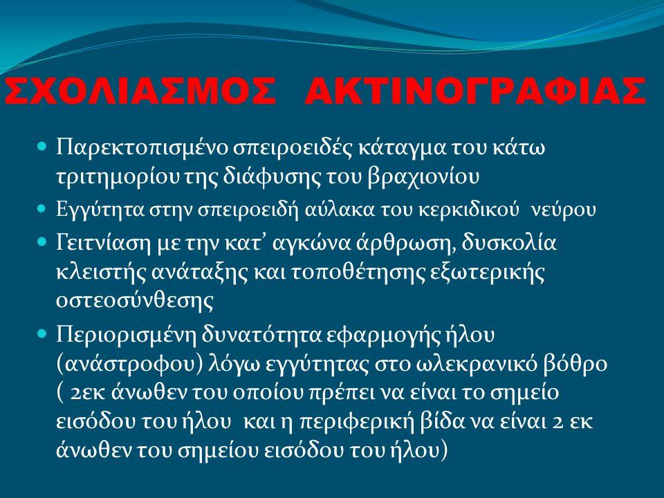 ΣΧΟΛΙΑΣΜΟΣ ΑΚΤΙΝΟΓΡΑΦΙΑΣ