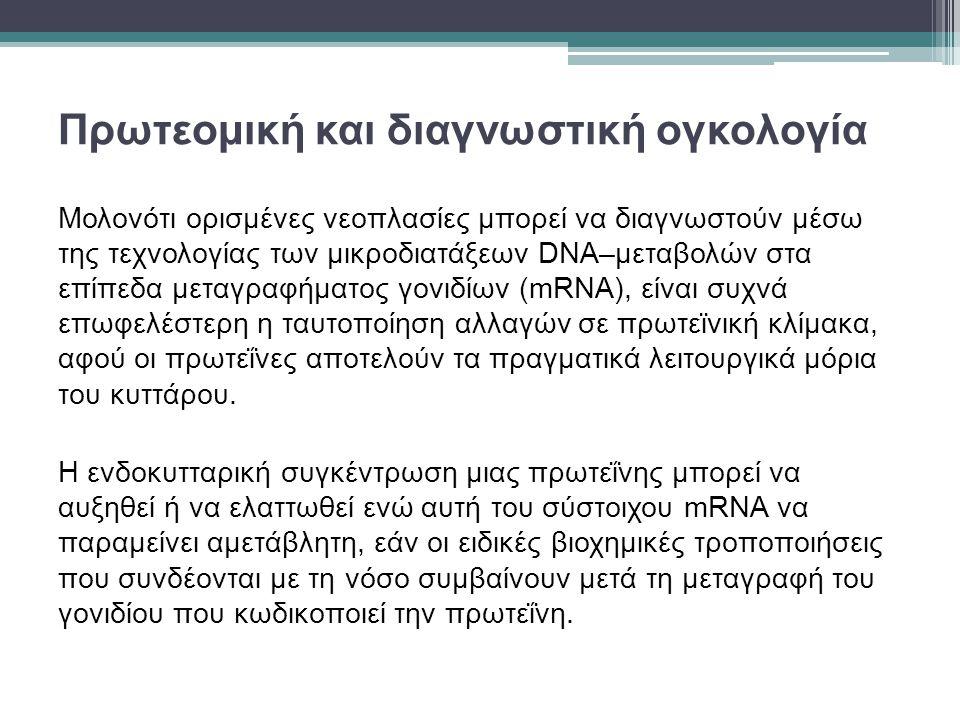 Πρωτεομική και διαγνωστική ογκολογία