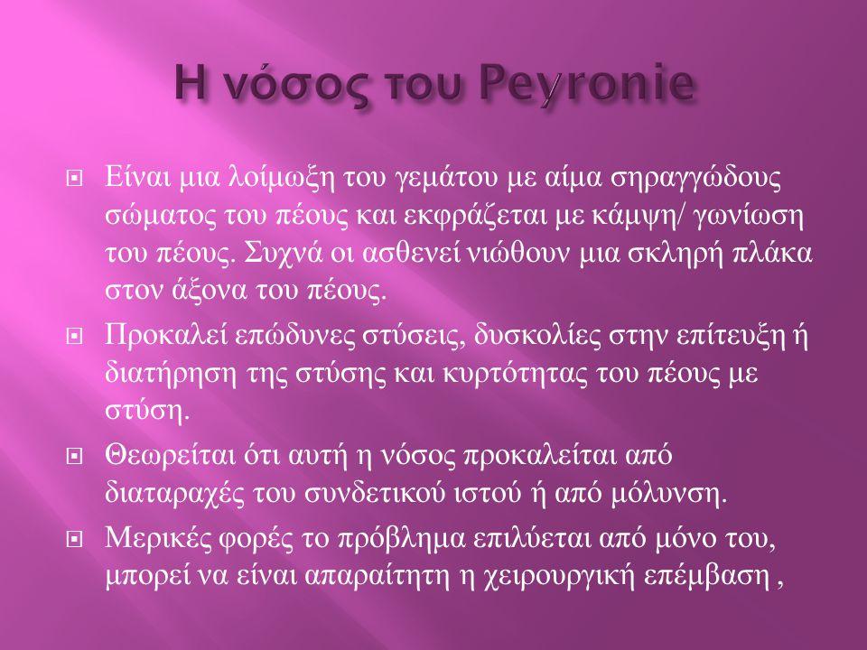 Η νόσος του Peyronie