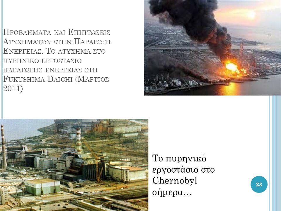 Το πυρηνικό εργοστάσιο στο Chernobyl σήμερα…