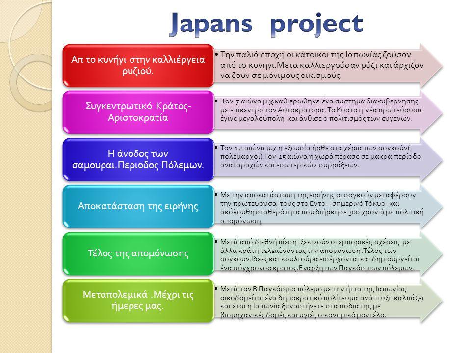 Japans project Απ το κυνήγι στην καλλιέργεια ρυζιού.
