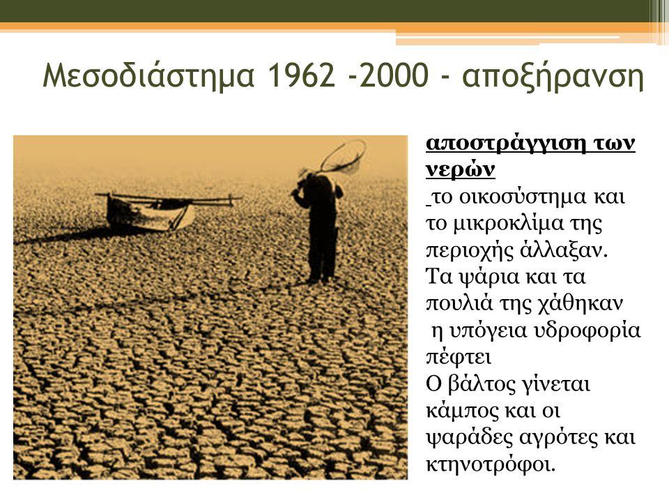 Μεσοδιάστημα 1962 -2000 - αποξήρανση