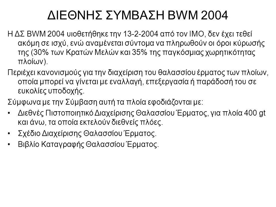 ΔΙΕΘΝΗΣ ΣΥΜΒΑΣΗ BWM 2004