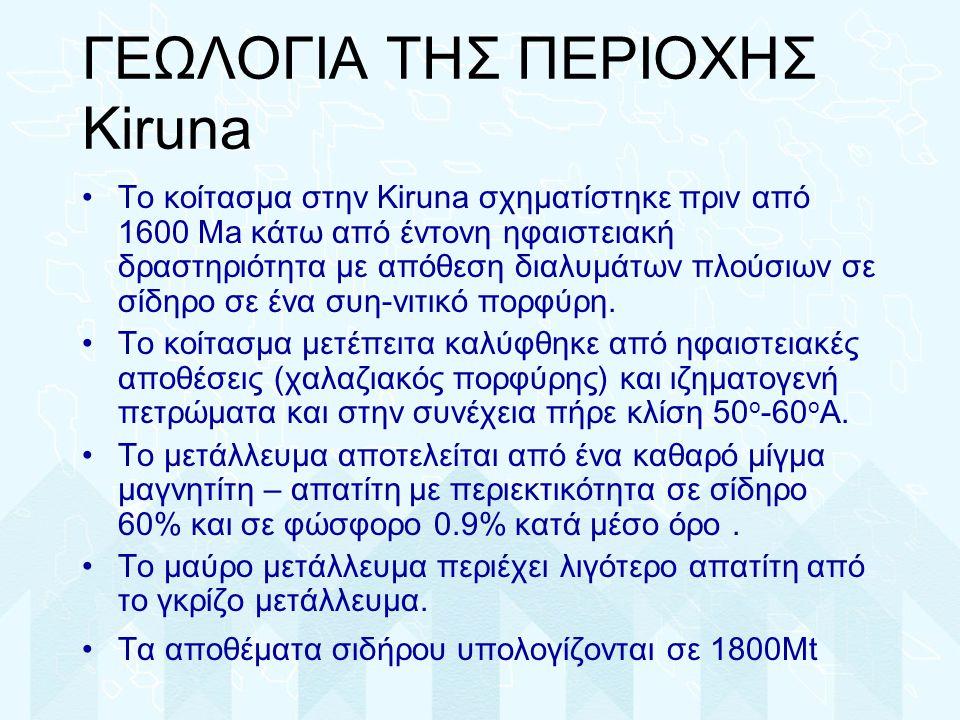 ΓΕΩΛΟΓΙΑ ΤΗΣ ΠΕΡΙΟΧΗΣ Kiruna