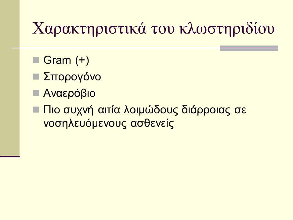 Χαρακτηριστικά του κλωστηριδίου