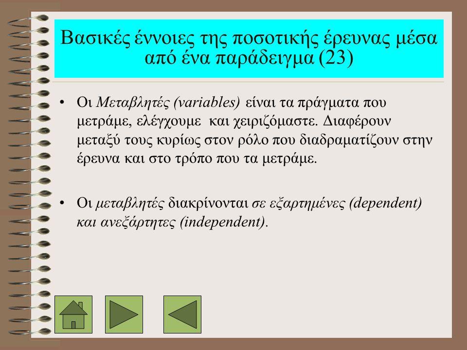 Βασικές έννοιες της ποσοτικής έρευνας μέσα από ένα παράδειγμα (23)