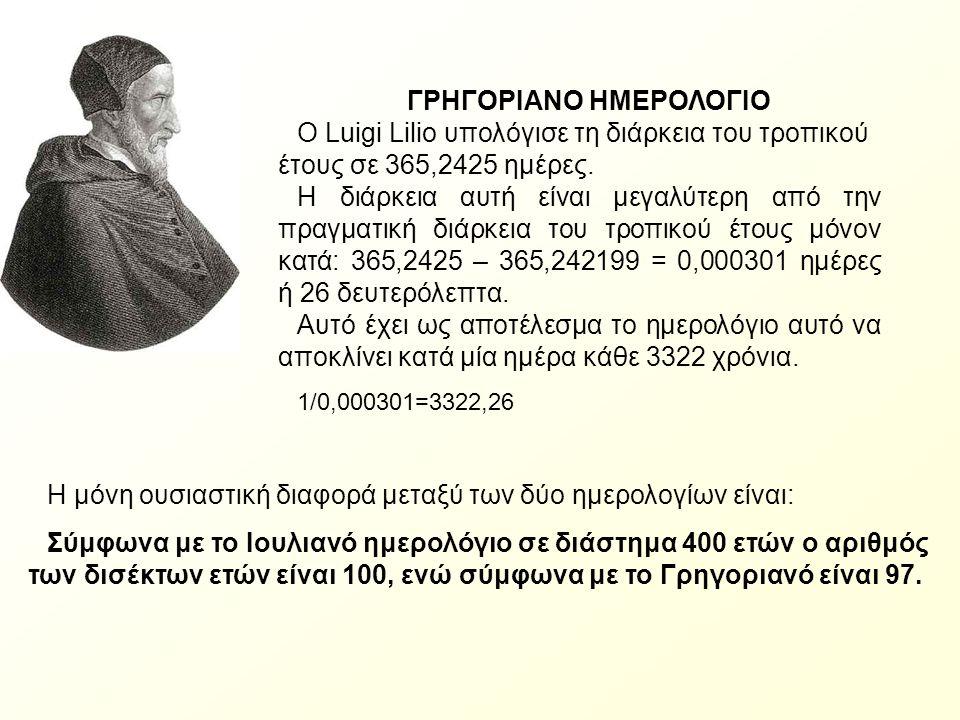 ΓΡΗΓΟΡΙΑΝΟ ΗΜΕΡΟΛΟΓΙΟ