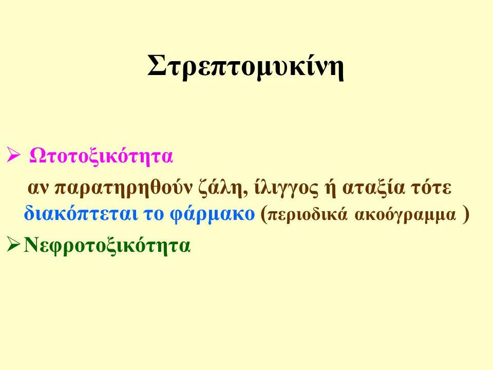 Στρεπτομυκίνη Ωτοτοξικότητα
