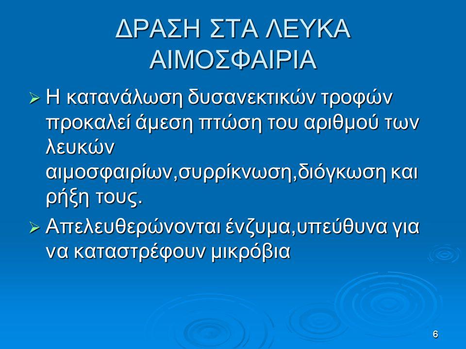 ΔΡΑΣΗ ΣΤΑ ΛΕΥΚΑ ΑΙΜΟΣΦΑΙΡΙΑ