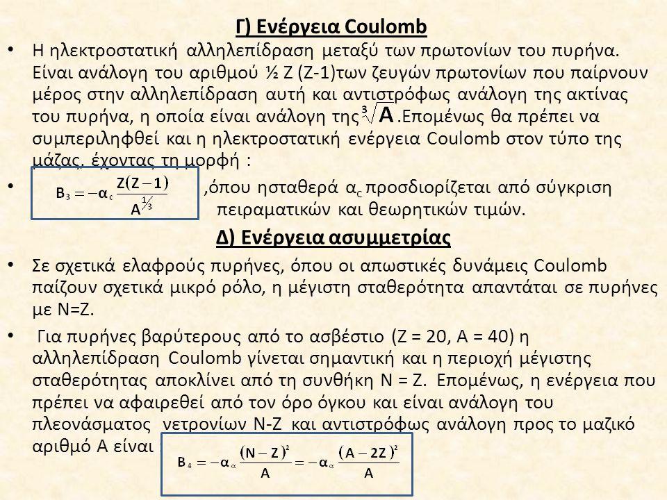 Δ) Ενέργεια ασυμμετρίας
