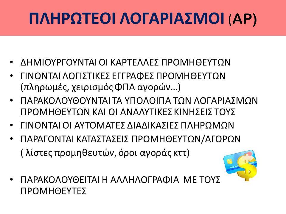 ΠΛΗΡΩΤΕOI ΛΟΓΑΡΙΑΣΜOI (AP)