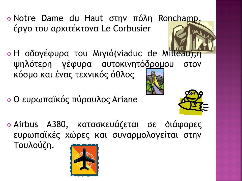 Notre Dame du Haut στην πόλη Ronchamp, έργο του αρχιτέκτονα Le Corbusier