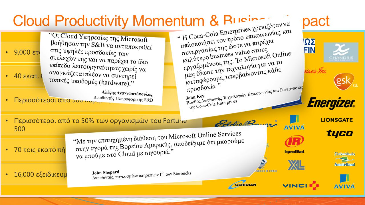 Cloud Productivity Momentum & Business Impact