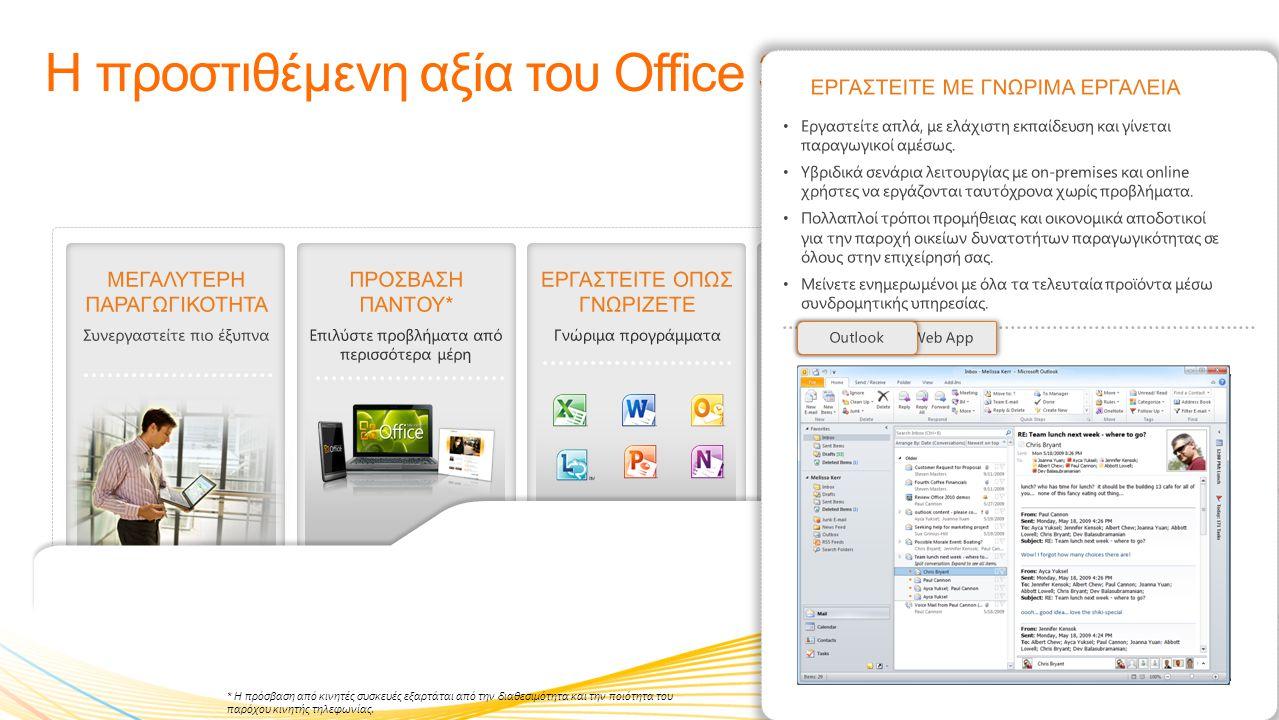 Η προστιθέμενη αξία του Office 365