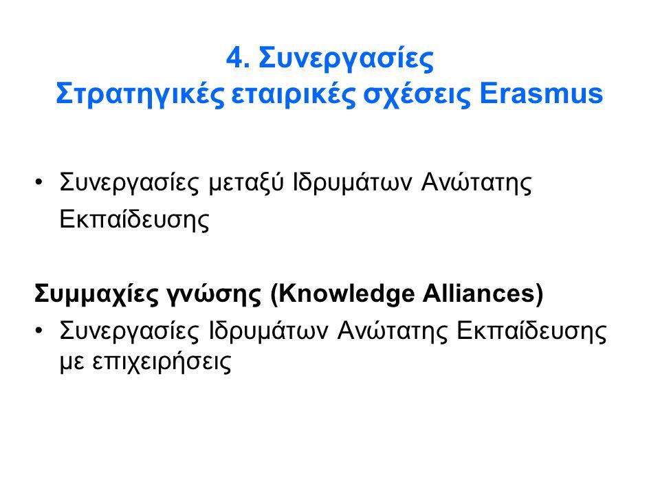 4. Συνεργασίες Στρατηγικές εταιρικές σχέσεις Erasmus