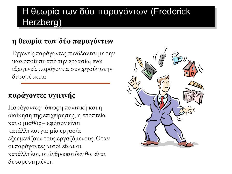 Η θεωρία των δύο παραγόντων (Frederick Herzberg)