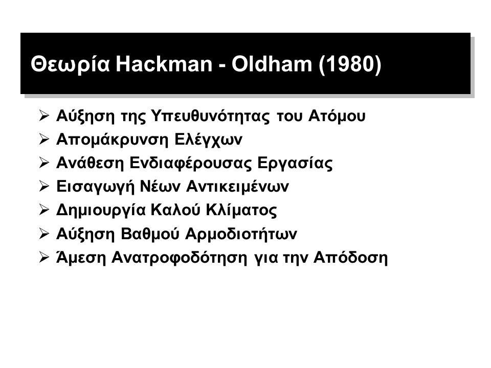 Θεωρία Hackman - Oldham (1980)