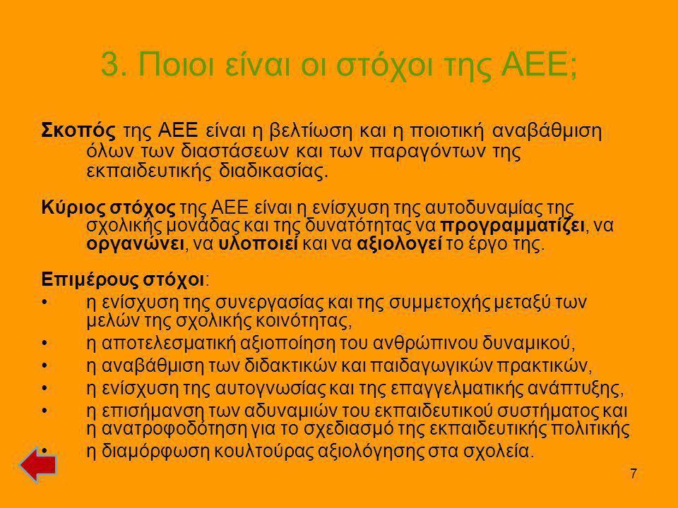 3. Ποιοι είναι οι στόχοι της ΑΕΕ;
