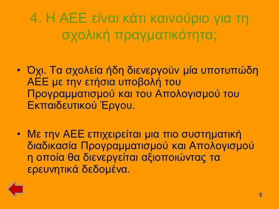 4. Η ΑΕΕ είναι κάτι καινούριο για τη σχολική πραγματικότητα;