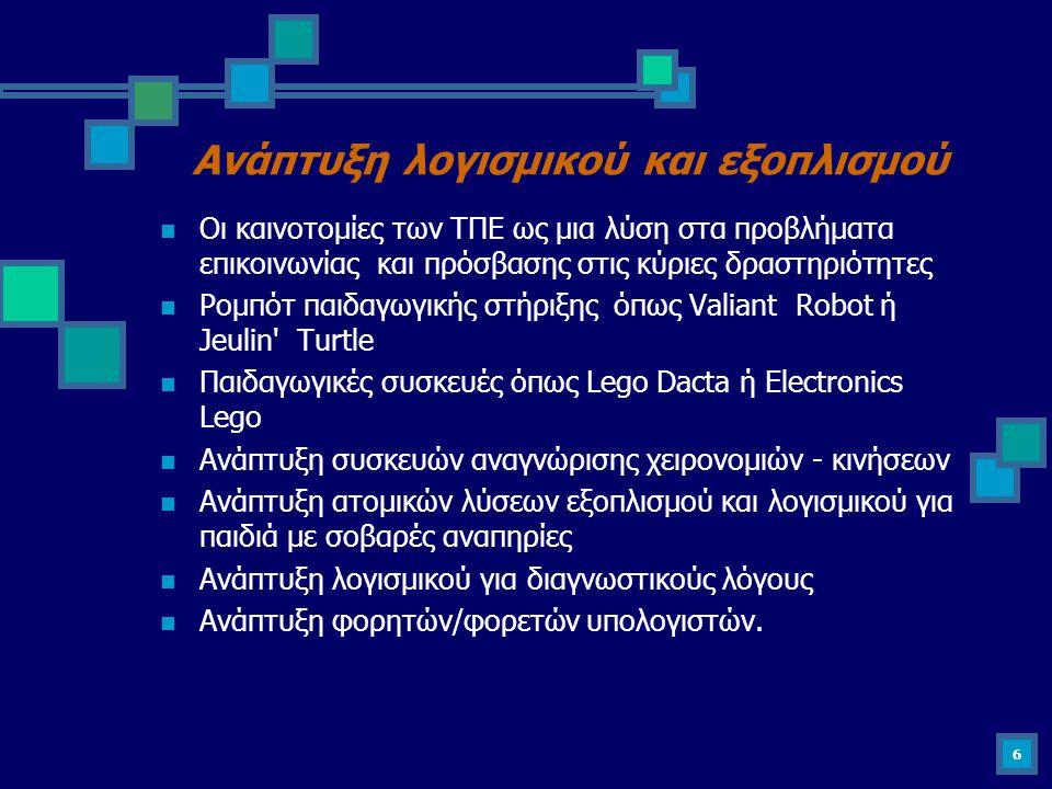 Ανάπτυξη λογισμικού και εξοπλισμού