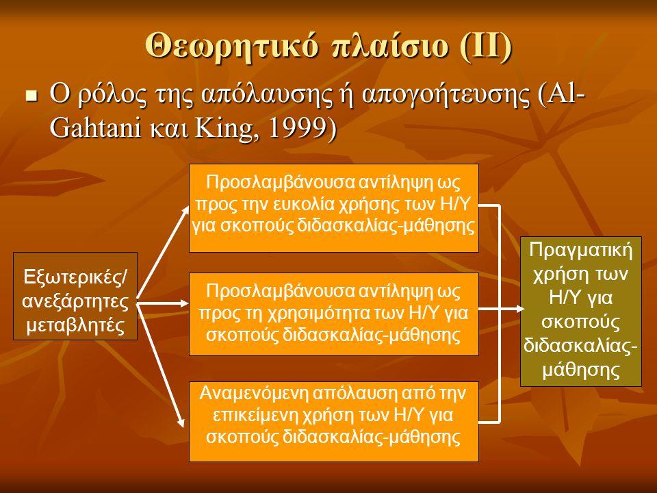 Θεωρητικό πλαίσιο (ΙΙ)
