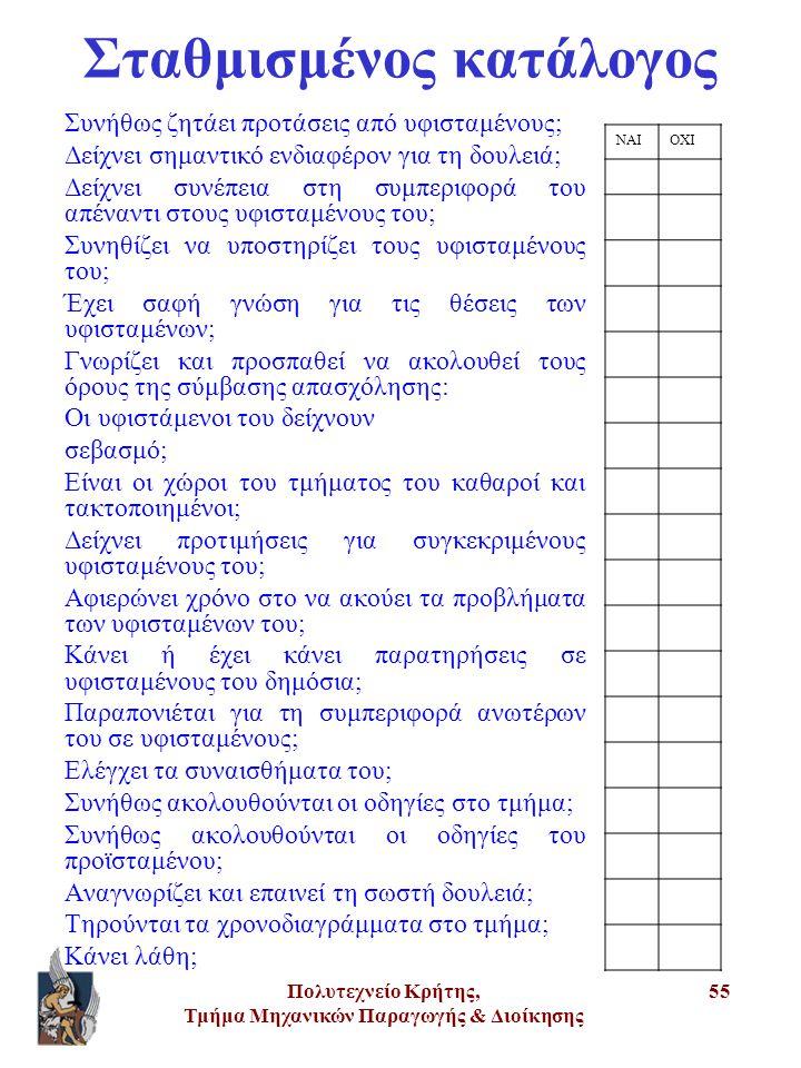 Σταθμισμένος κατάλογος