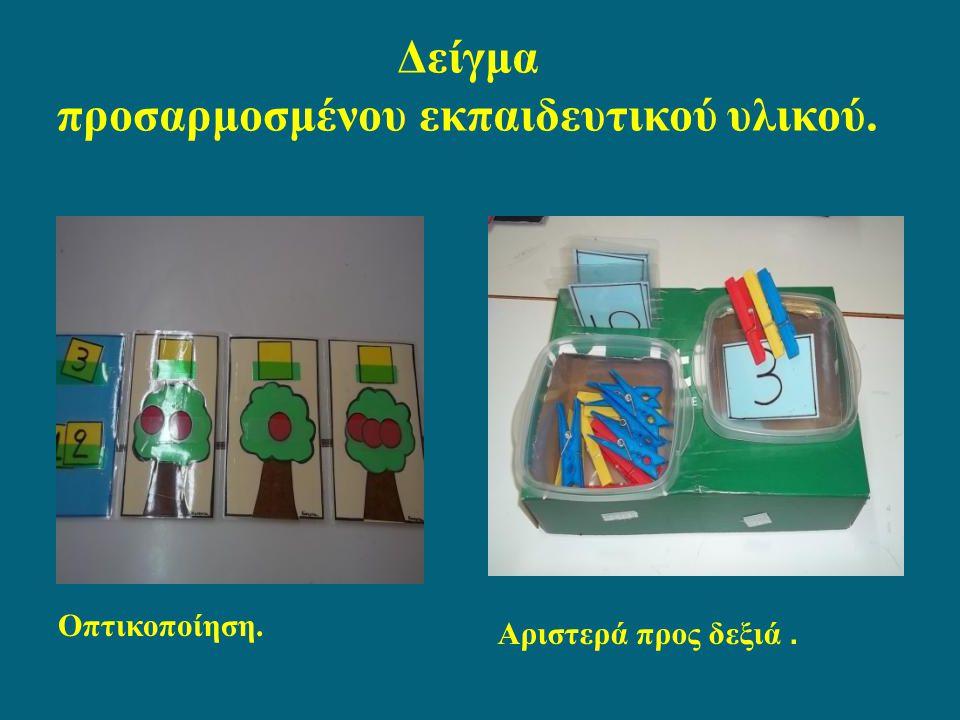 Δείγμα προσαρμοσμένου εκπαιδευτικού υλικού.