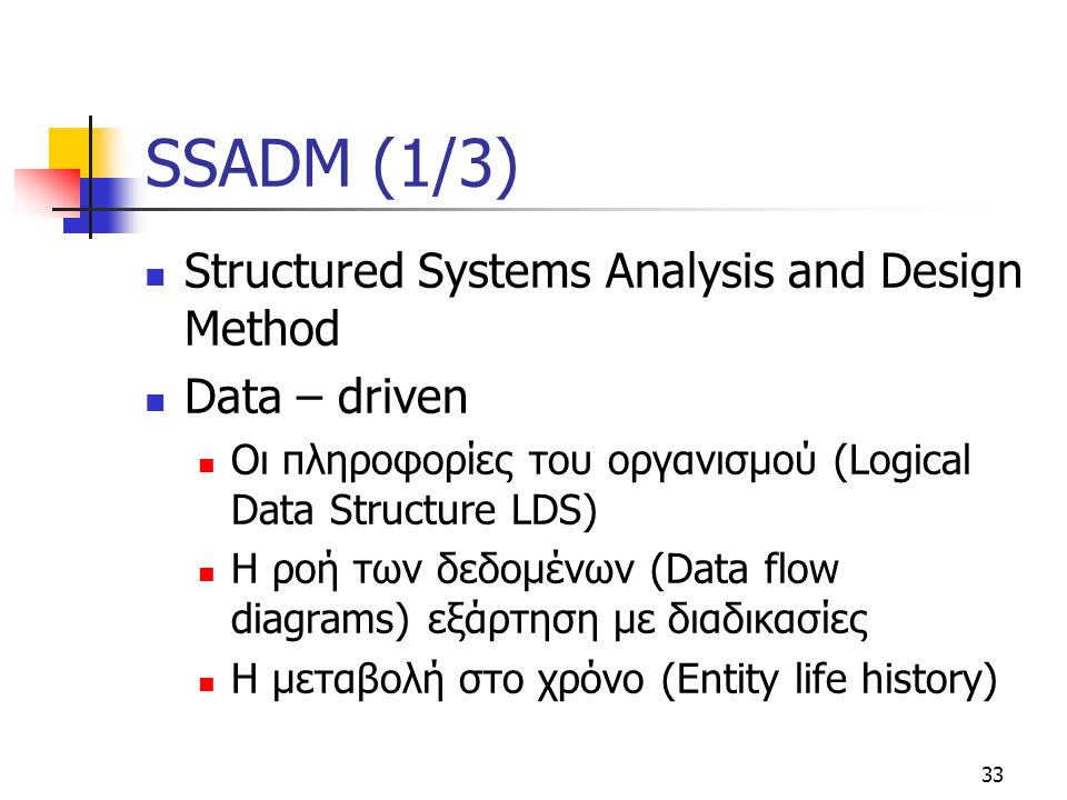 SSADM (1/3) Structured Systems Analysis and Design Method