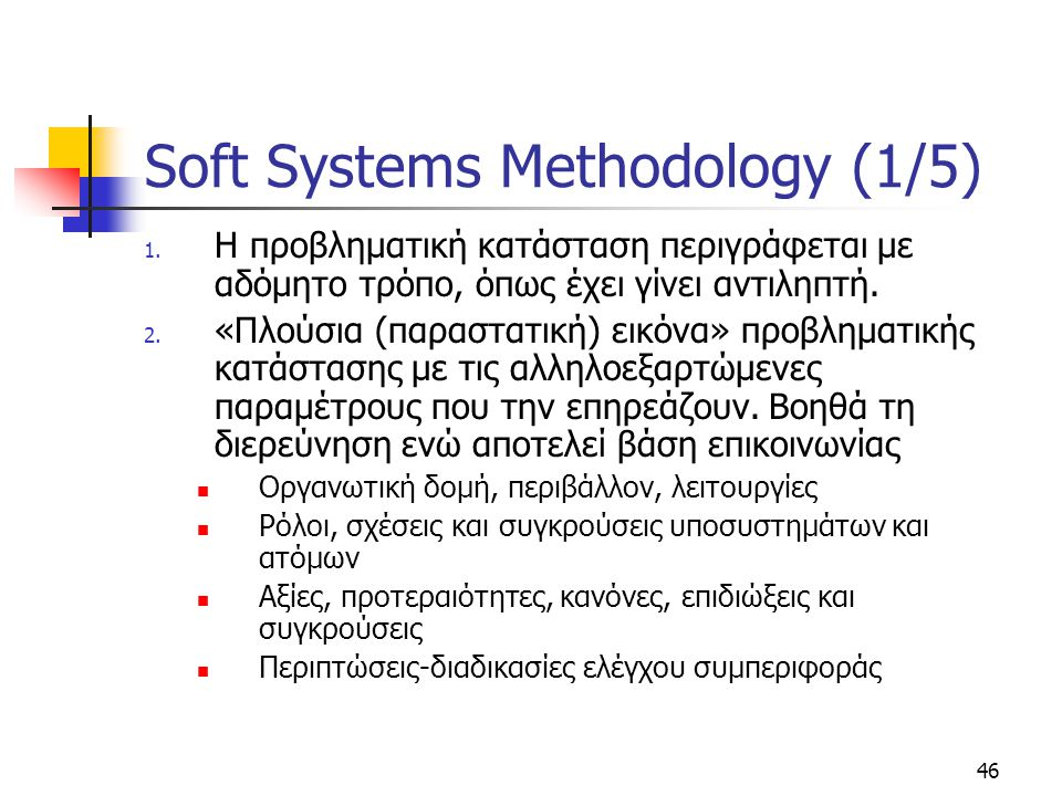 Soft Systems Methodology (1/5)