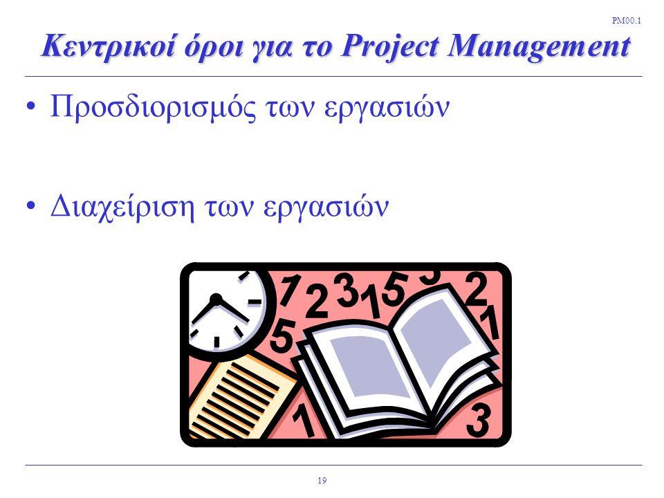 Κεντρικοί όροι για το Project Management