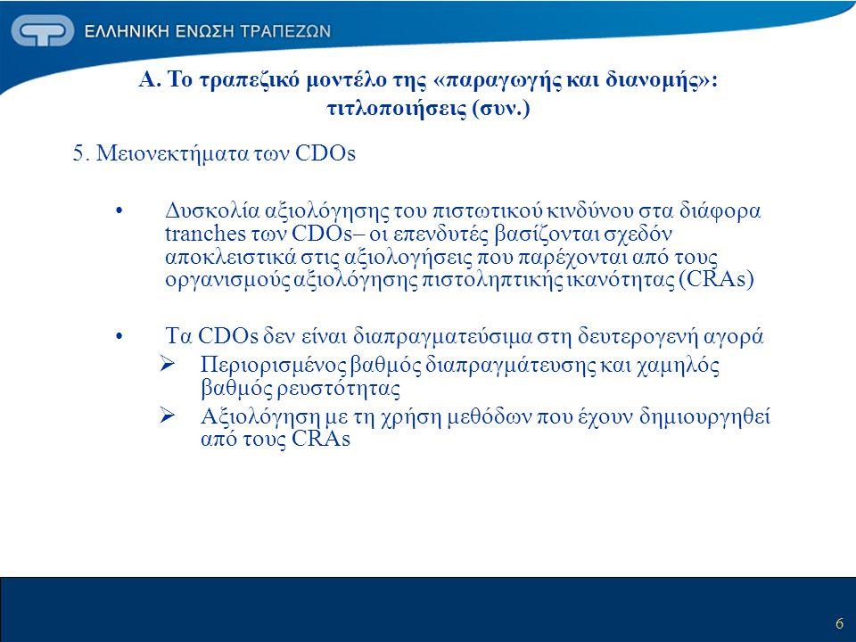 5. Μειονεκτήματα των CDOs