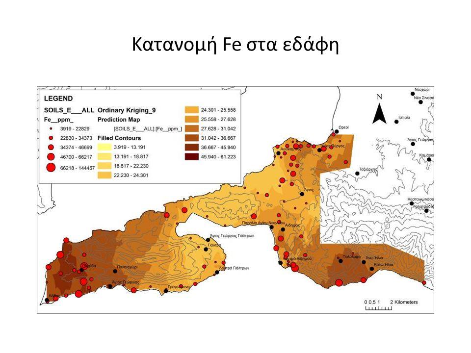 Κατανομή Fe στα εδάφη