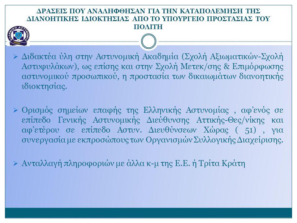 Ανταλλαγή πληροφοριών με άλλα κ-μ της Ε.Ε. ή Τρίτα Κράτη