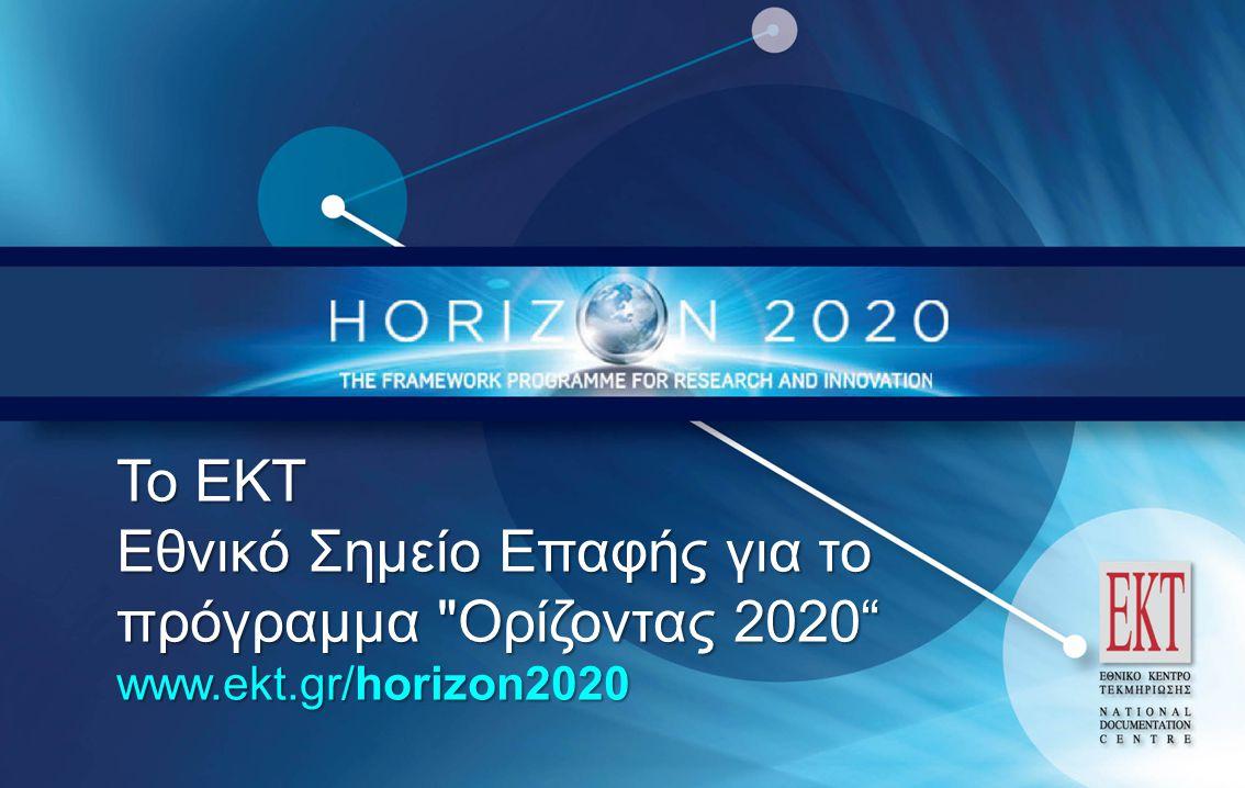 Εθνικό Σημείο Επαφής για το πρόγραμμα Ορίζοντας 2020