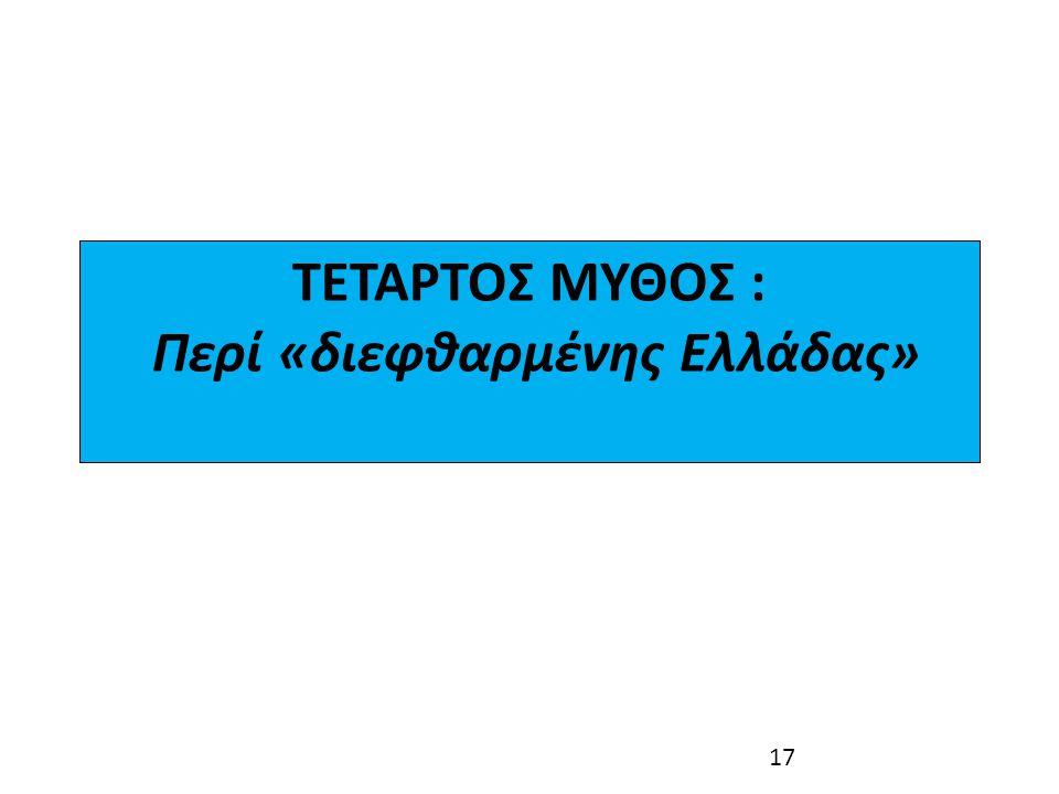 ΤΕΤΑΡΤΟΣ ΜΥΘΟΣ : Περί «διεφθαρμένης Ελλάδας»