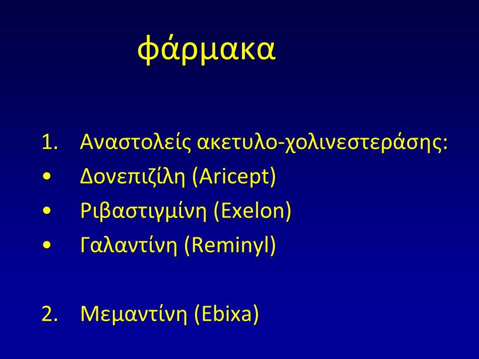 φάρμακα Αναστολείς ακετυλο-χολινεστεράσης: Δονεπιζίλη (Αricept)