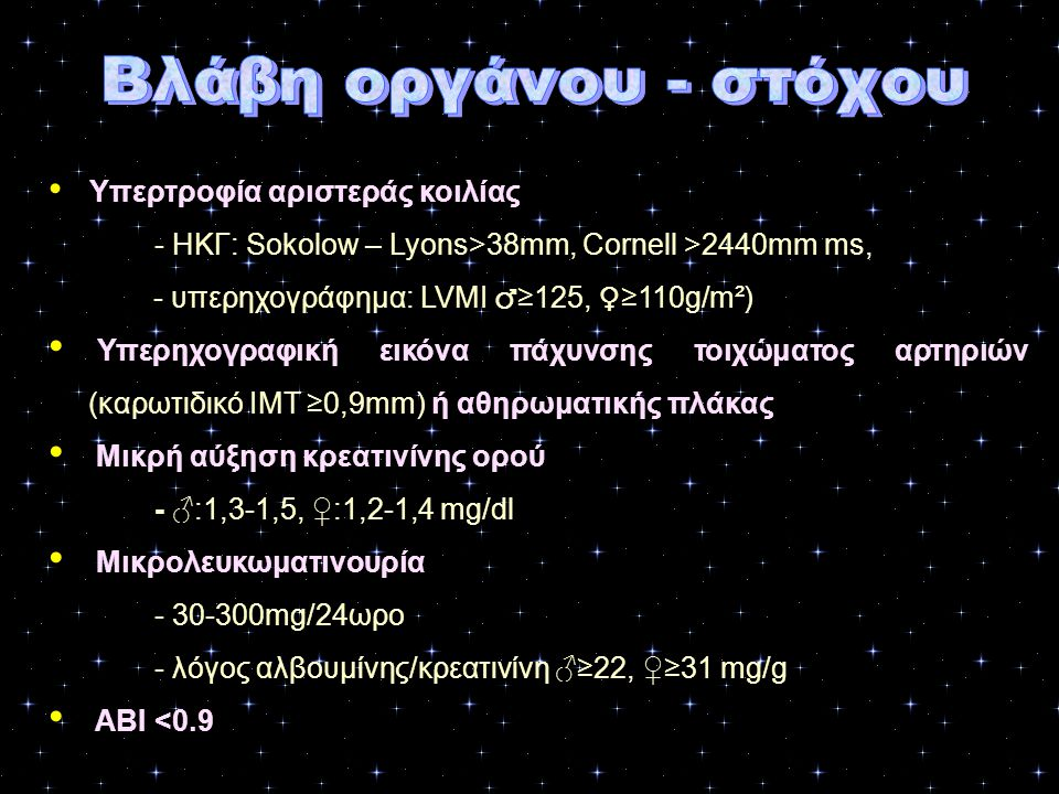 - ΗΚΓ: Sokolow – Lyons>38mm, Cornell >2440mm ms,