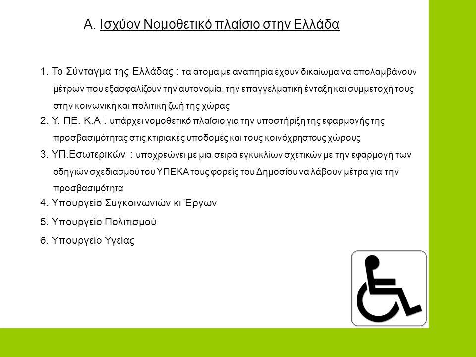 Α. Ισχύον Νομοθετικό πλαίσιο στην Ελλάδα